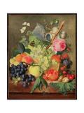 A Basket of Fruit, 1744 Lámina giclée por Huysum, Jan van