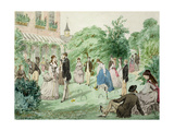 Ladies and Gentlemen Playing Croquet Giclee-trykk av William Mcconnell