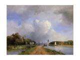 View of the Vliet Near Delft, 1844 Giclee Print by Johan-Barthold Jongkind