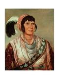 Portrait of Osceola (1804-38) Lámina giclée prémium por George Catlin