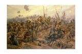 The Battle of the Somme Reproduction procédé giclée par Richard Caton Woodville II