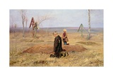 The Orphans, 1891 Giclee Print by Nikolaj Alekseevich Kasatkin