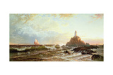 The Lighthouse Giclée-tryk af Alfred Thompson Bricher
