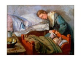 Sleeping Mother, 1883 Giclee Print by Christian Krohg