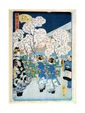Cherry Blossom at Asakura Reproduction procédé giclée par Ando Hiroshige