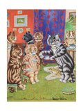 Cat's Tea Party Reproduction procédé giclée par Louis Wain