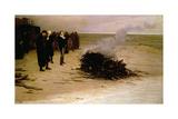 The Funeral of Shelley, 1889 Giclée-vedos tekijänä Louis Edouard Paul Fournier