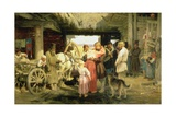 The Leave-Taking of the New Recruit, 1879 Giclee Print by Ilya Efimovich Repin