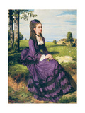 Woman in Violet, 1874 Giclée-tryk af Pal Szinyei Merse