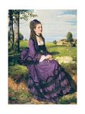 Woman in Violet, 1874 Giclée-Druck von Pal Szinyei Merse