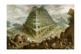The Building of the Tower of Babel Giclée-Druck von Marten van Valckenborch
