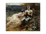 The Temptation of Sir Percival, 1894 Lámina giclée por Arthur Hacker