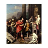 Hannibal Swearing Eternal Enmity to Rome Giclée-tryk af Jacopo Amigoni