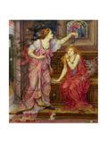 Queen Eleanor and Fair Rosamund Giclee-trykk av Evelyn De Morgan