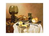 Breakfast Still Life with Roemer, Meat Pie, Lemon and Bread, 1640 Reproduction procédé giclée par Pieter Claesz