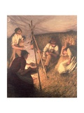 The Harvester's Supper, 1898 Giclee Print by Henry Herbert La Thangue