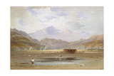A View of Snowdon from Traeth Bach, Merioneth Giclée-Druck von John Varley