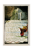 London: Plate 47 from 'Songs of Innocence and of Experience' C.1802-08 Lámina giclée por William Blake