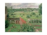 View Through a Window, Eragny, 1888 Reproduction procédé giclée par Camille Pissarro