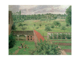 View Through a Window, Eragny, 1888 Giclee Print by Camille Pissarro