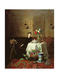 Taking Tea Giclee Print by David Emil Joseph de Noter