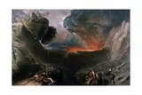 The Great Day of His Wrath, Engraved by Charles Mottram (1807-76), Published by Thomas Mclean,… Giclée-vedos tekijänä John Martin
