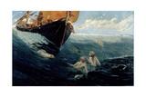 The Mermaid's Rock, 1894 Reproduction procédé giclée par Edward Matthew Hale