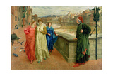Dante and Beatrice, 1884 Giclée-Druck von Henry Holiday