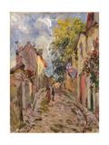 Village Street Scene Giclee Print by Alfred Sisley
