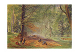 Charcoal Burners in Rokeby Park Giclee Print by Alfred William Hunt