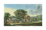 Autumn in New England - Cider Making, 1866 Giclee-trykk av Currier & Ives,