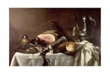 Still Life with a Ham Reproduction procédé giclée par Pieter Claesz