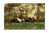 The Turf Bench, 1876 Giclee Print by Ilya Efimovich Repin