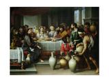 The Marriage Feast at Cana, C.1665-75 Giclée-tryk af Bartolome Esteban Murillo