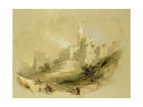 Jerusalem and the Tower of David Giclée-Druck von David Roberts