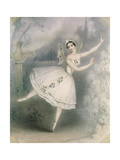 Carlotta Grisi (1819-99) as Giselle, Paris, C.1841 Giclee Print by Augustus Jules Bouvier