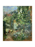 Child in the Hollyhocks, 1881 Giclee Print by Berthe Morisot