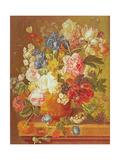 Flowers in a Vase, 1789 Giclée-Druck von Paul Theodor van Brussel