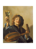 The Merry Lute Player, C.1624-28 Giclee Print by Frans Hals