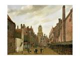 View of Boterbrug with the Tower of the Stadhuis, Delft, C.1653-59 Giclée-Druck von Jan Van Der Heyden