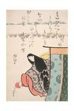 Ono No Kamachi, from the Series 'The Six Immortal Poets', C.1810 Giclée-Druck von Katsushika Hokusai