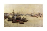 The Port of London Reproduction procédé giclée par Charles William Wyllie