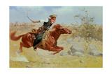 Galloping Horseman, C.1890 Giclee Print by Frederic Sackrider Remington