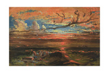 Sunset at Sea after a Storm Giclee Print by Francis Danby