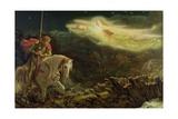 Sir Galahad - the Quest of the Holy Grail, 1870 Giclee-trykk av Arthur Hughes