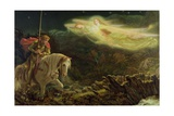 Sir Galahad - the Quest of the Holy Grail, 1870 Lámina giclée por Arthur Hughes