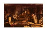 The Night School, 1892 Gicléetryck av Edgar Bundy