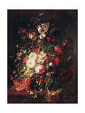 Flowers and Fruit Giclee-trykk av Rachel Ruysch