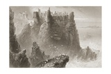 Dunluce Castle, County Antrim, Northern Ireland, from 'scenery and Antiquities of Ireland' by… Reproduction procédé giclée par William Henry Bartlett