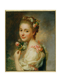 Portrait of the Artist's Wife, Marie Suzanne, 1763 Giclee Print by Alexander Roslin